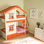 кровать-домик для двух деток