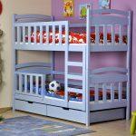 голубая двухъярусная кровать