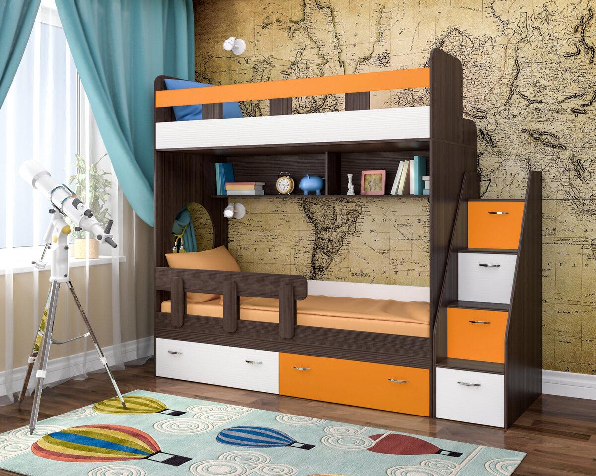 оригинальная детская двухъярусная кровать