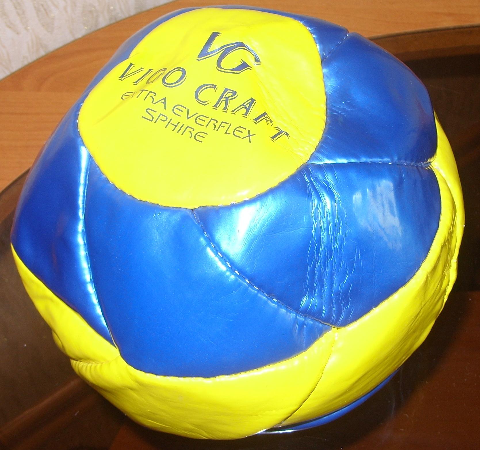 наложение заплатки на мяч