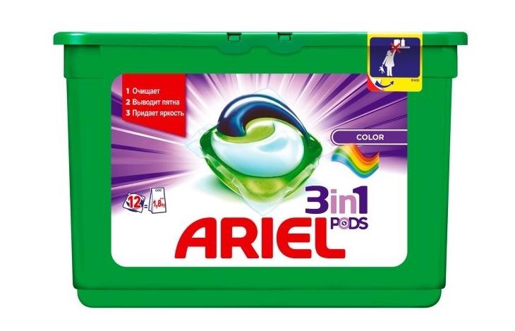 капсулы для стирки Ariel Color 3 в 1
