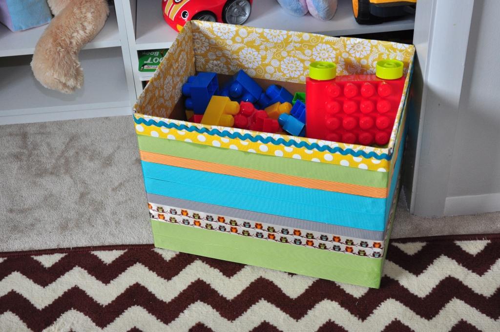 картонная коробка для игрушек