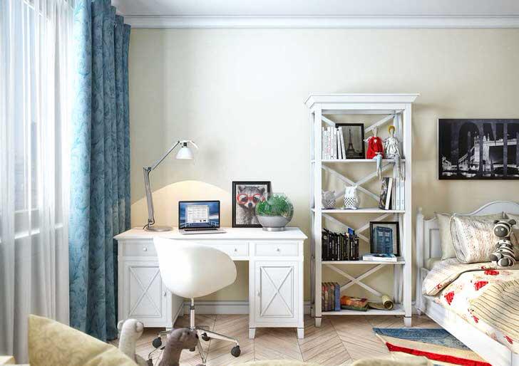 комната для девочки подростка в скандинавском стиле