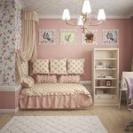 спальня для девочки в розовых тонах