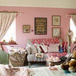 розовые тона в оформлении комнаты девочки подростка