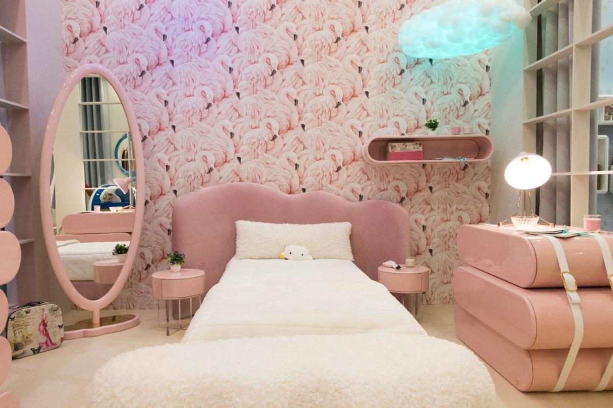 спальная зона в комнате подростка