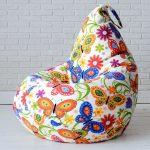 кресло-мешок с цветами