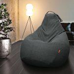 кресло-мешок серый
