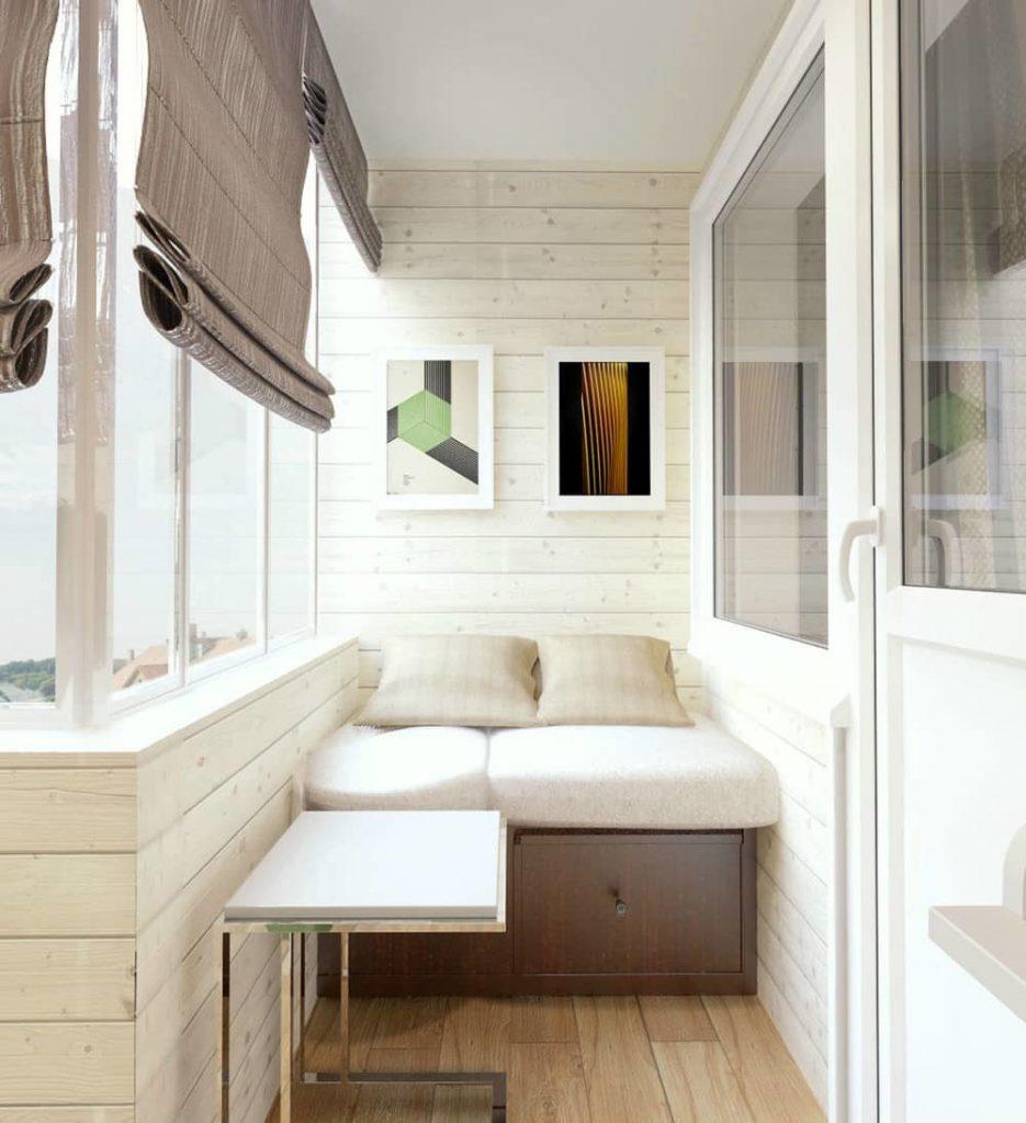 кровать на балконе