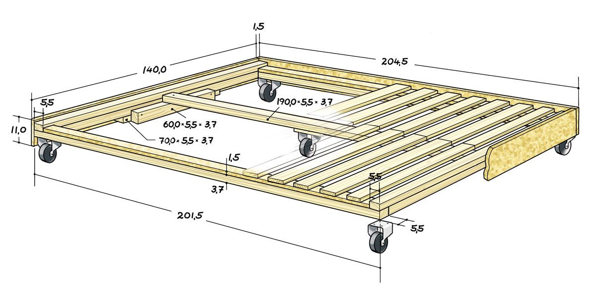 кровать подиум чертеж фото