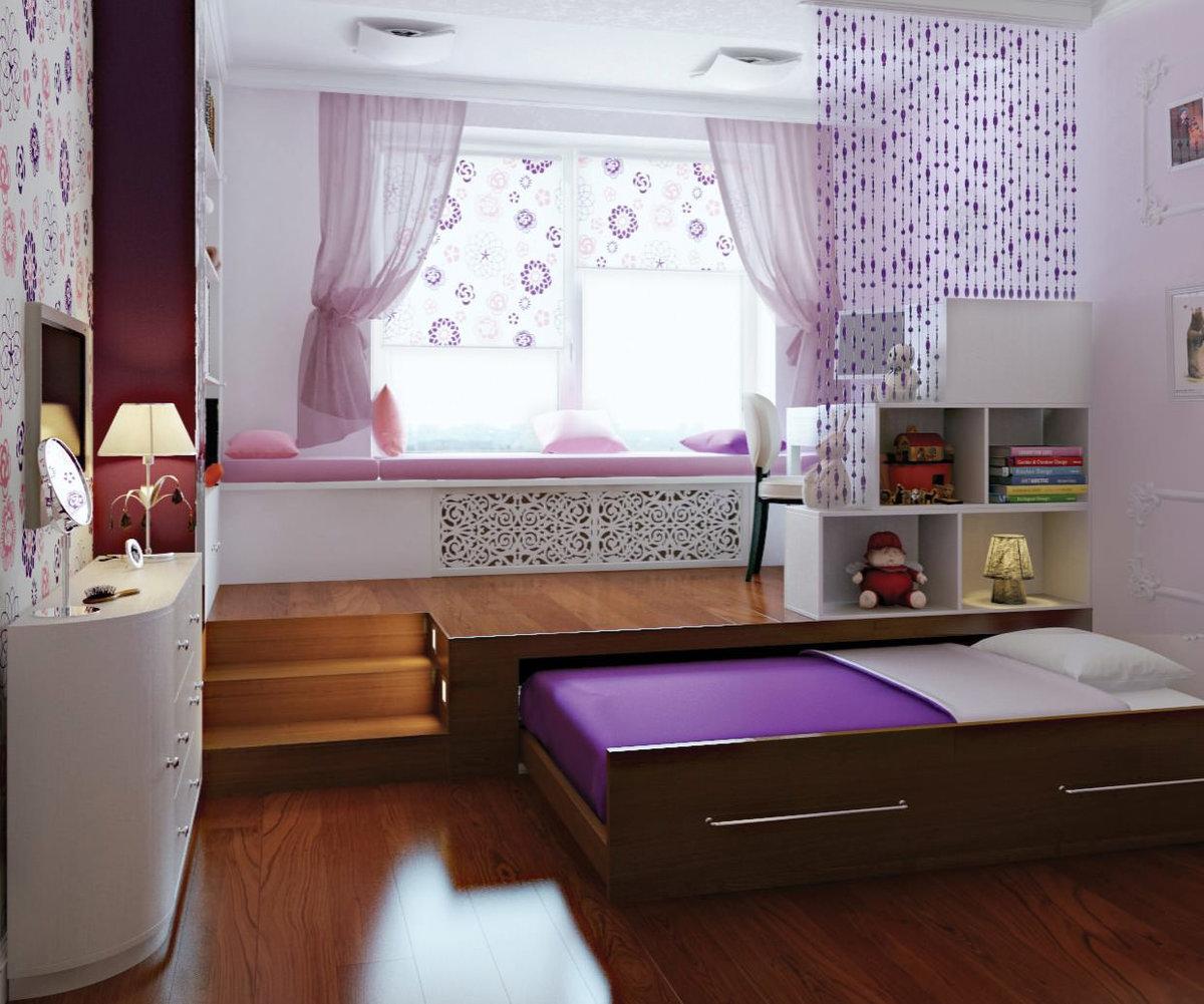 кровать подиум фото идеи