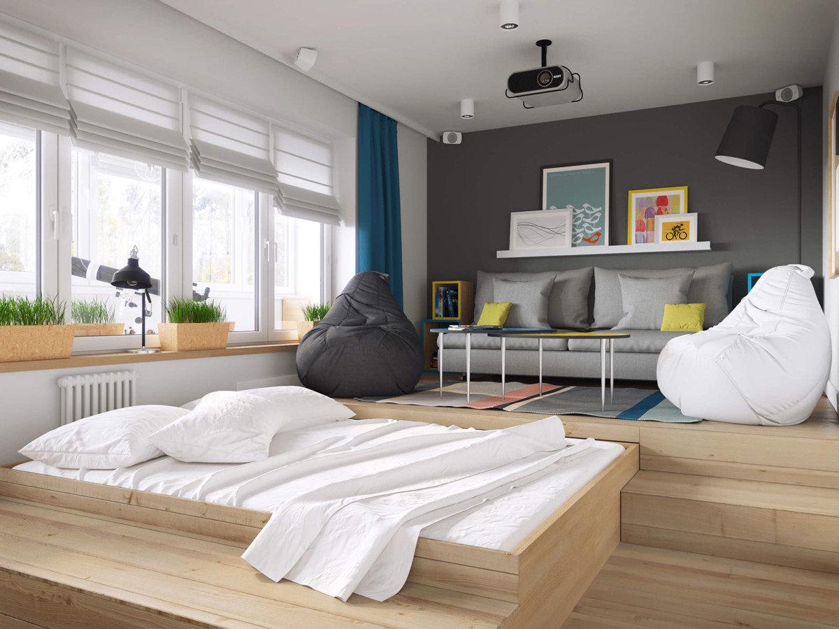 кровать подиум идеи фото