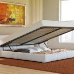 кровать с подъёмным механизмом идеи декор