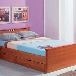 кровать с ящиками фото интерьер