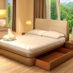 кровать с ящиками оформление