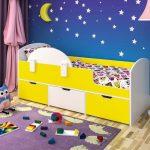 кровать с ящиками фото оформление
