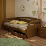 кровать с ящиками виды оформления