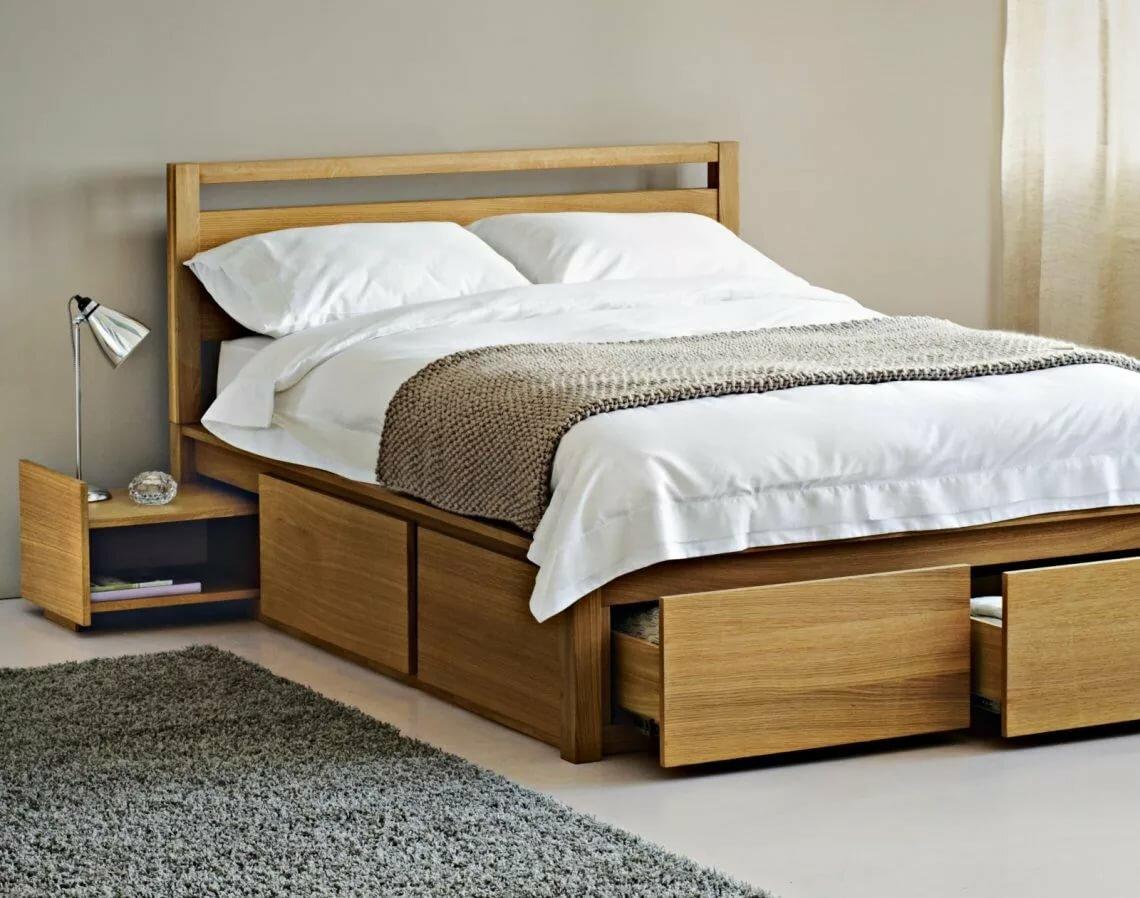 кровать с ящиками фото дизайна