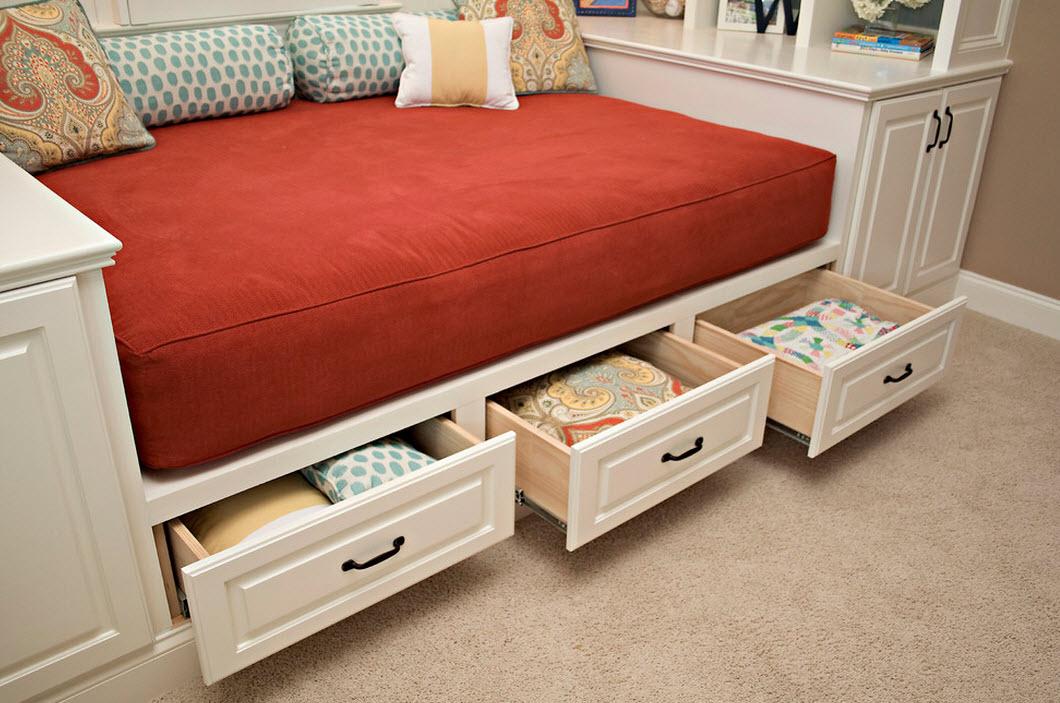 кровать с ящиками идеи фото