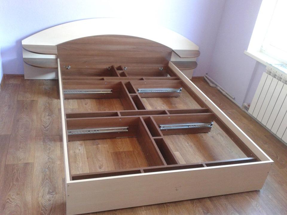 кровать с ящиками каркас