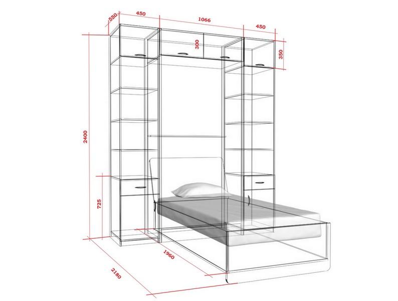 шкаф кровать схема