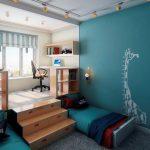 кровать в подиуме идеи дизайна