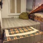 кровать в подиуме декор фото