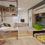 кровать в подиуме декор идеи
