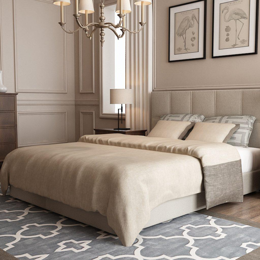 местоположение кровати в спальне