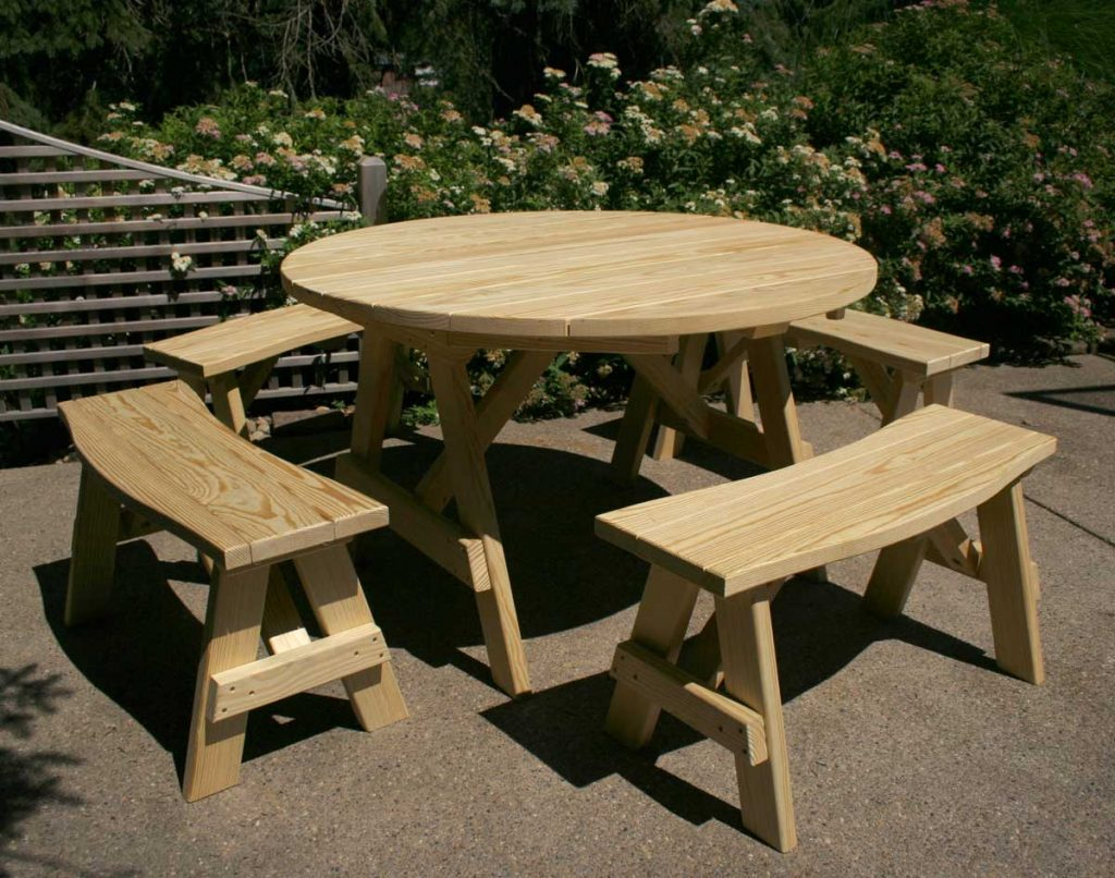 установка круглого стола