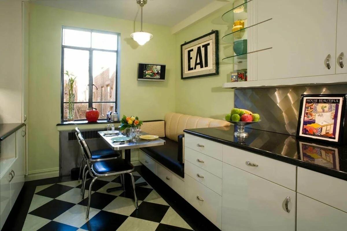 кухня 9 кв м с диваном дизайн фото