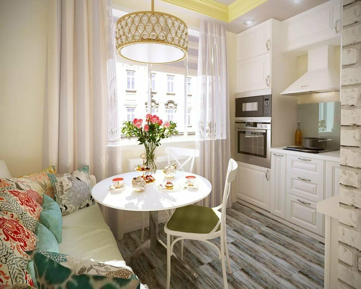 кухня 9 кв м с диваном дизайн идеи