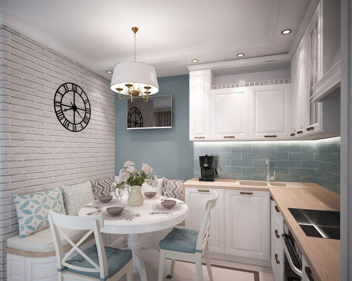 кухня 9 кв м с диваном фото дизайн