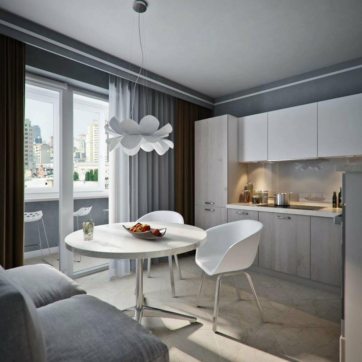 кухня 9 кв м с диваном фото идеи