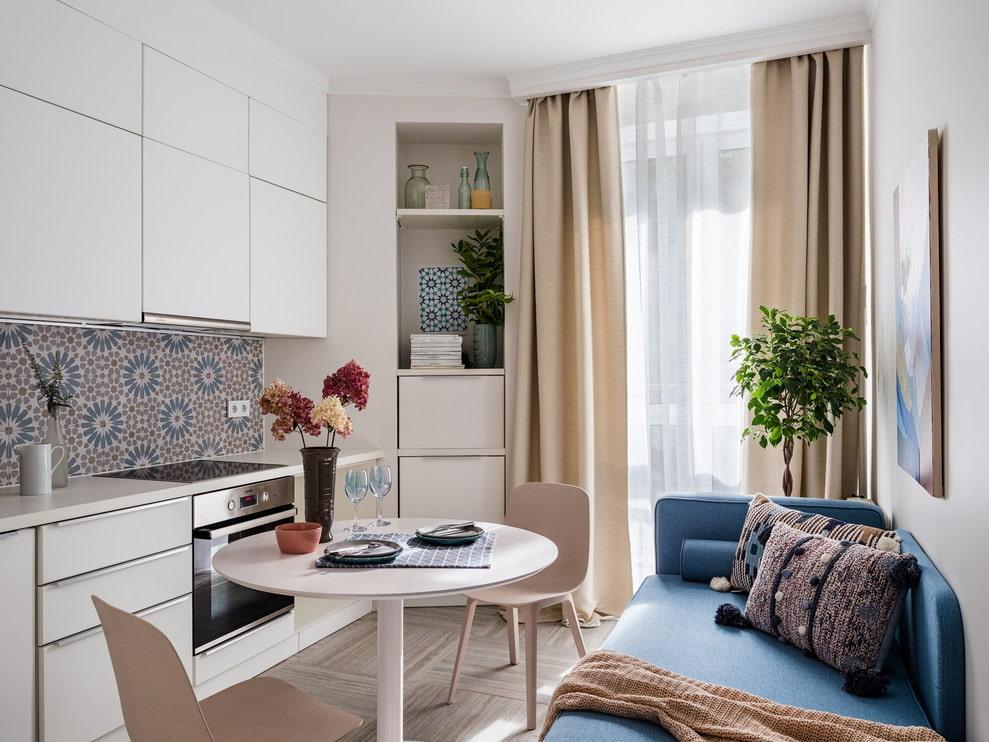 кухня 9 кв м с диваном идеи дизайн