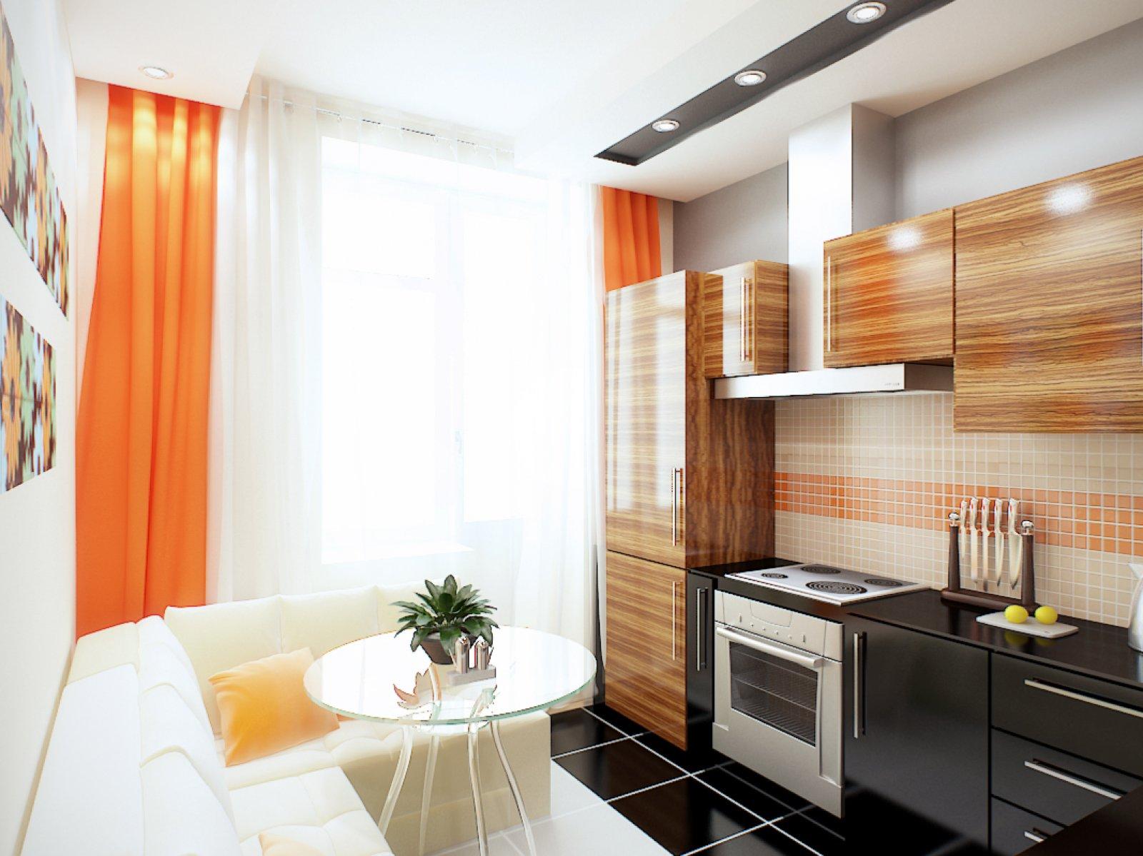 кухня 9 кв м с диваном интерьер фото