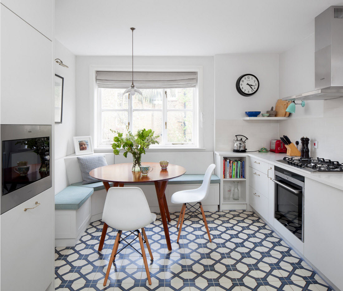 кухня 9 кв м с диваном интерьер