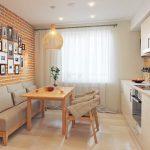 кухня 9 кв метров с диваном интерьер