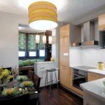 кухня 9 кв метров с диваном фото интерьера