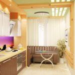кухня 9 кв метров с диваном интерьер идеи