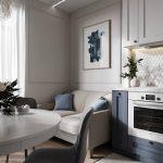 кухня 9 кв метров с диваном идеи интерьера