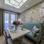кухня 9 кв метров с диваном фото оформление
