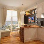 кухня 9 кв метров с диваном фото оформления