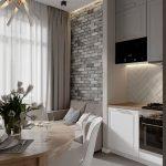 кухня 9 кв метров с диваном варианты фото