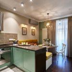 кухня 9 кв метров с диваном идеи вариантов