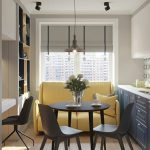 кухня 9 кв метров с диваном виды