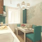 кухня 9 кв метров с диваном виды фото