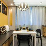 кухня 9 кв метров с диваном фото виды