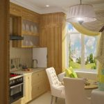 кухня 9 кв метров с диваном фото видов