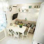 кухня 9 кв метров с диваном виды идеи
